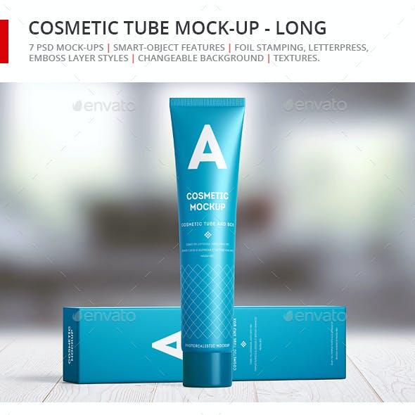 Cosmetic Tube Mock-up - Long
