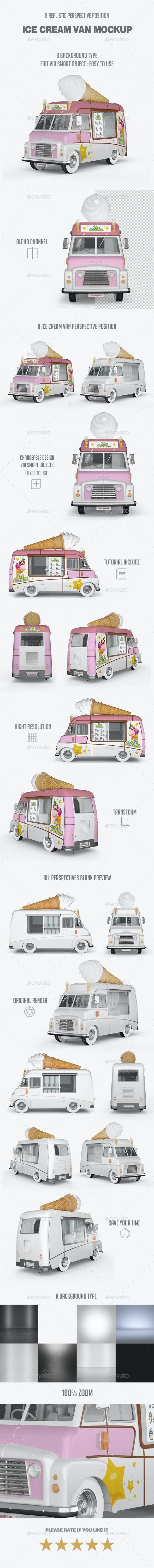 Ice Cream Van Mockup - Vehicle Wraps Print