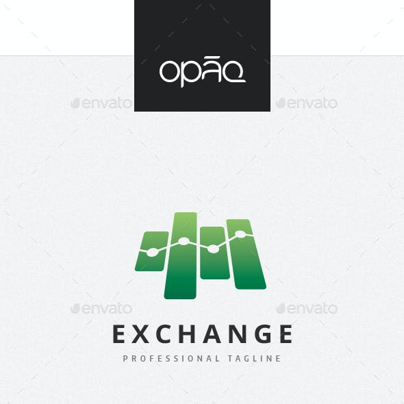 Financial Exchange Symbol Logo
