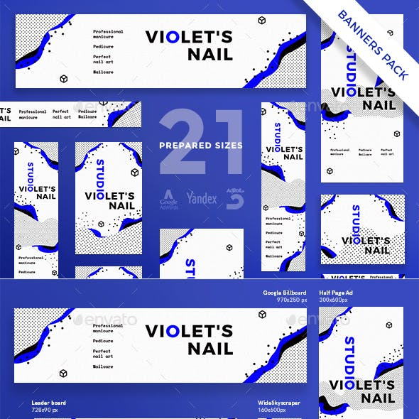Nail Studio Banner Pack