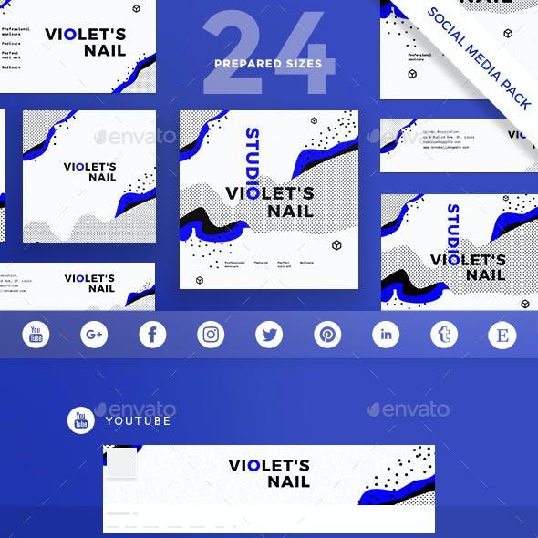 Nail Studio Social Media Pack