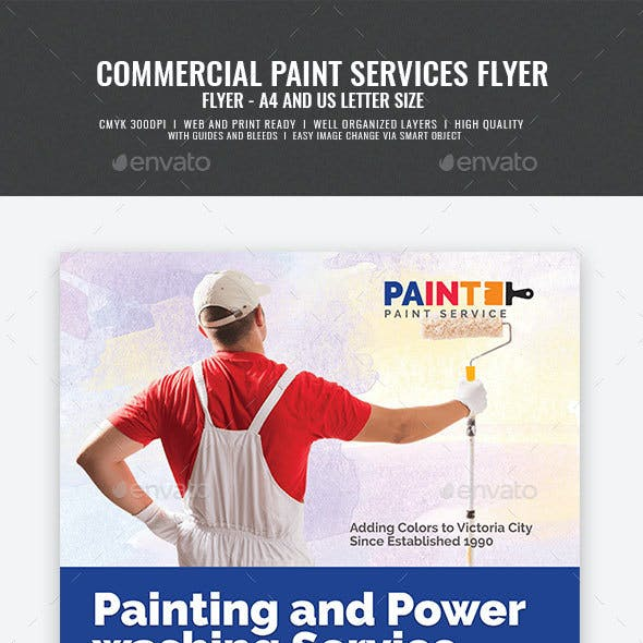 Paint and Power Washing Services Flyer