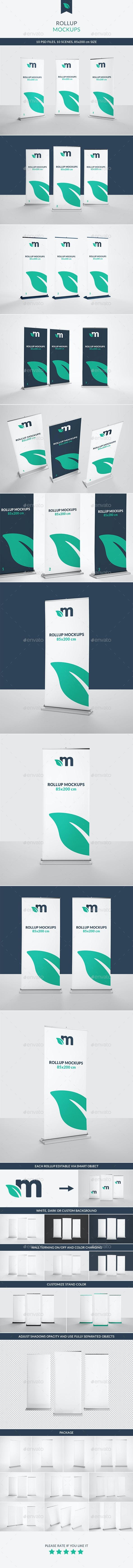 Roll Up Banner Mockups - Signage Print