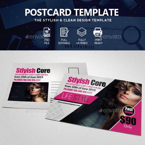 Beauty Salon & Fashion Post Card
