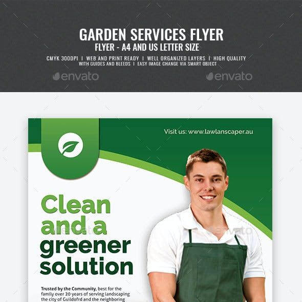 Garden and Landscaping Services Flyer