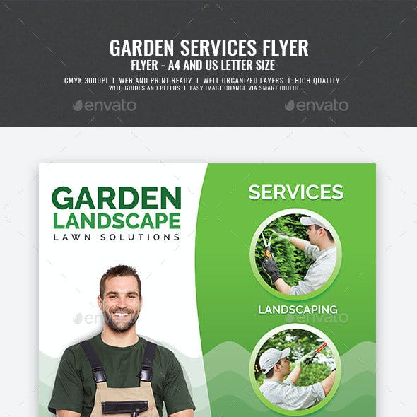 Commercial Landscaping and Garden Care Flyer