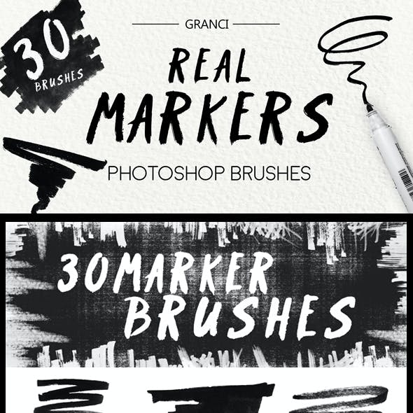 30 Real Marker Brushes