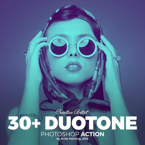 30+ Duotone Photoshop Action