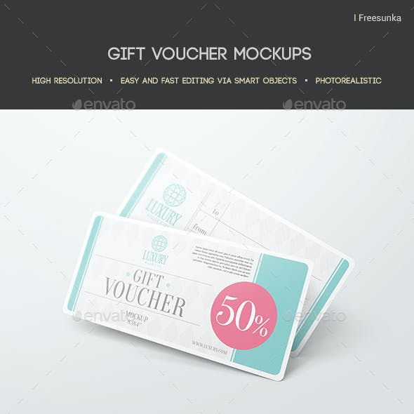 Voucher Mockup Graphics Designs Templates From Graphicriver