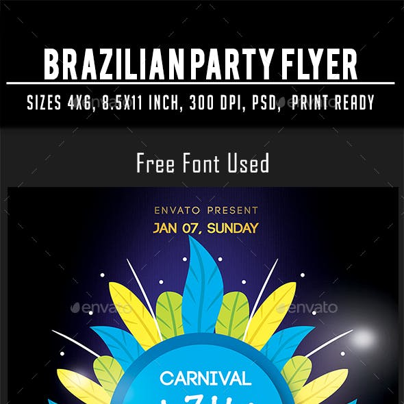 Brazilian Party Flyer