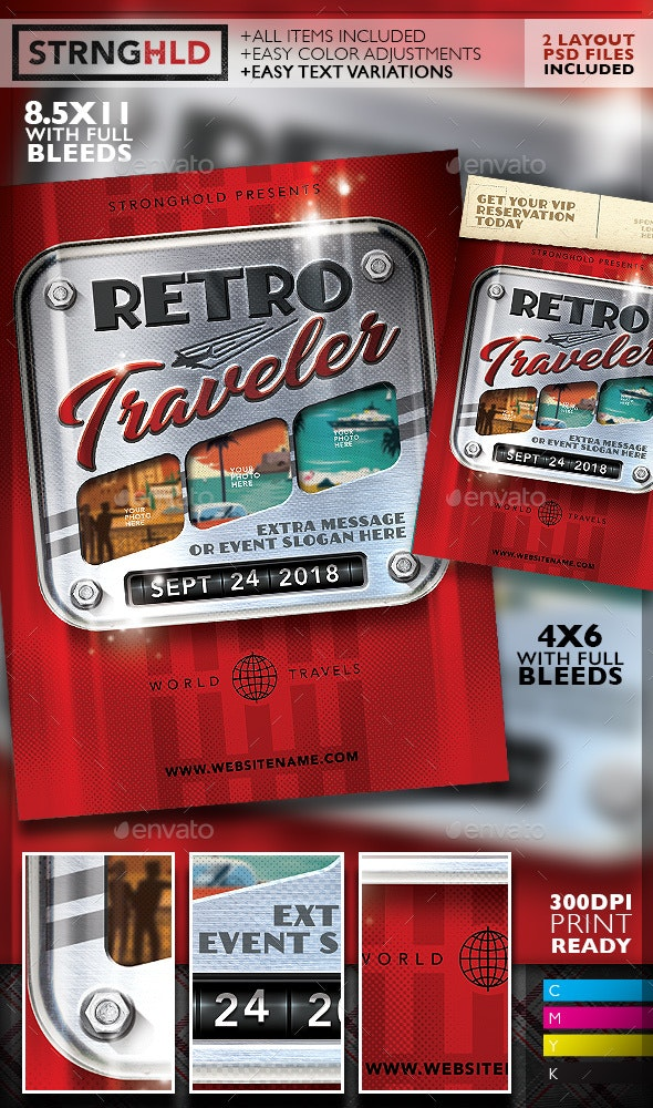 Retro Travel Event Flyer Template - Events Flyers