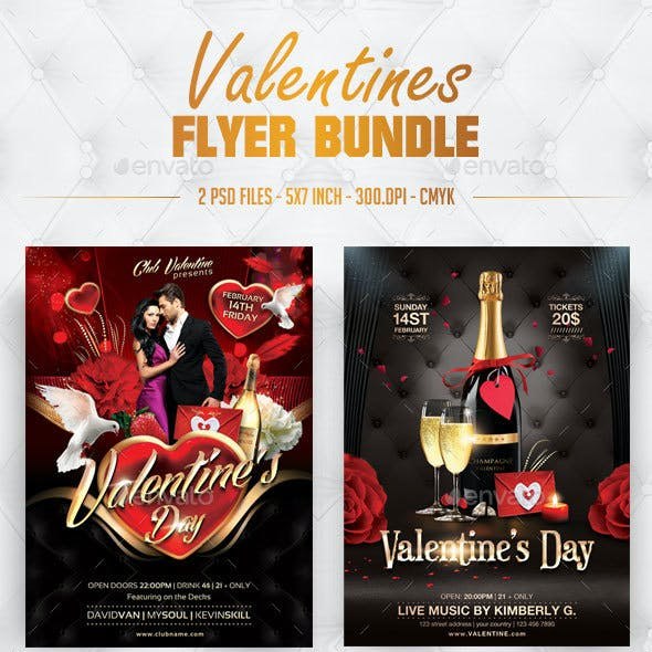 Valentines Flyer Bundle