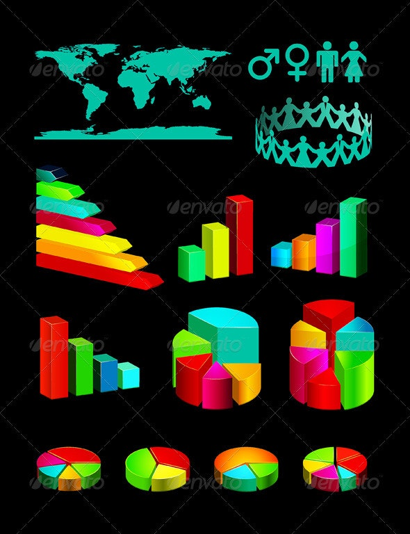 Infographic Vector Graphs and Elements