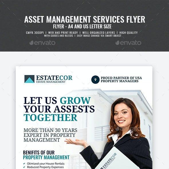 Asset and Real Estate Management Flyer