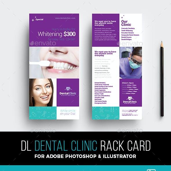 Dental Clinic Rack Card Template