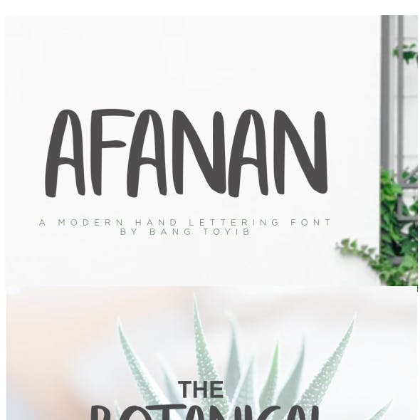 AFANAN - Brush Font