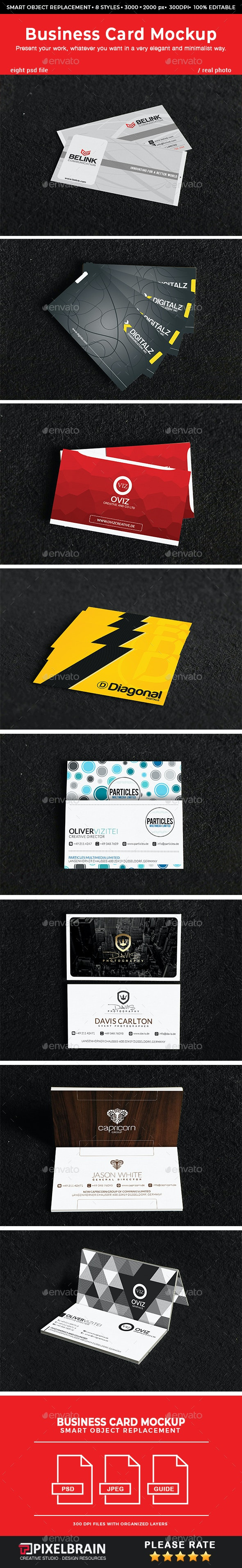 Realistic Business Card Mockups Vol. 3 - Business Cards Print