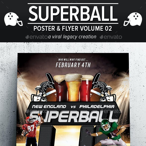 Superball Football Poster / Flyer V02