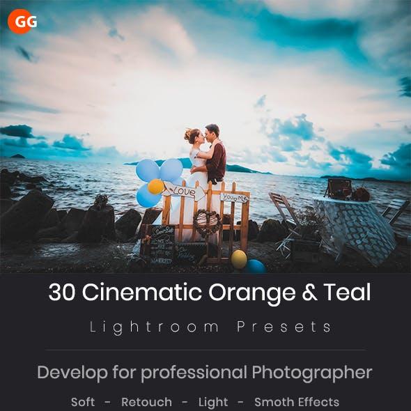 30 Cinematic Orange & Teal Lightroom  Preset