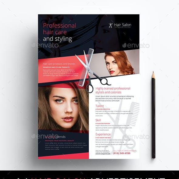 Hair Salon Advertisement Template