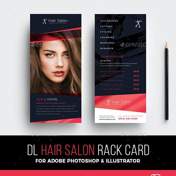 Hair Salon Rack Card Template
