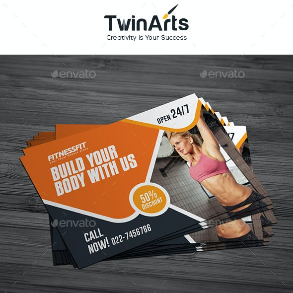 Fitness Post Card Design.