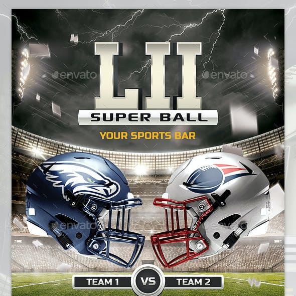 American Football flyer  / Super Bowl