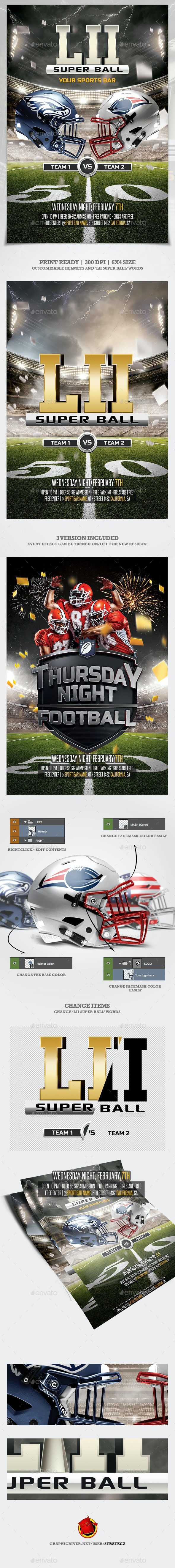 American Football flyer  / Super Bowl - Print Templates