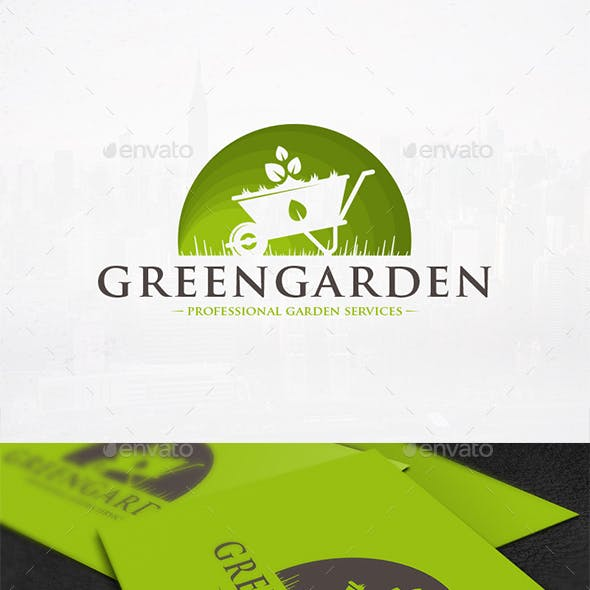 Green Garden Logo Template