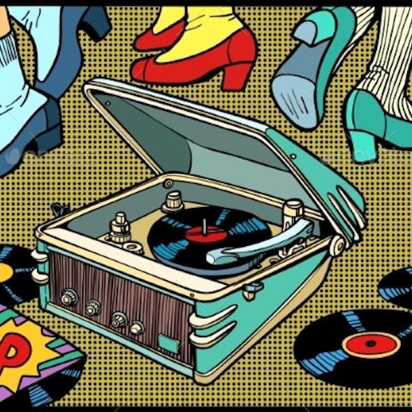 Retro Dancing Gramophone
