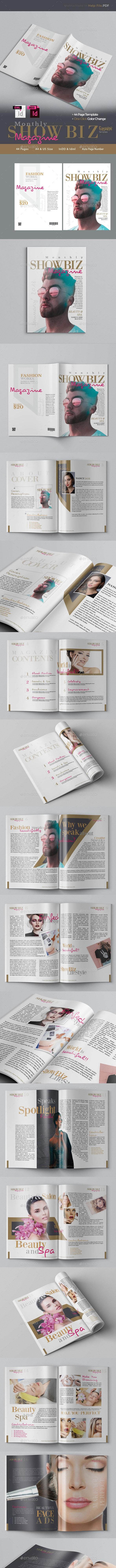 Multipurpose Fashion Magazine Template - Magazines Print Templates