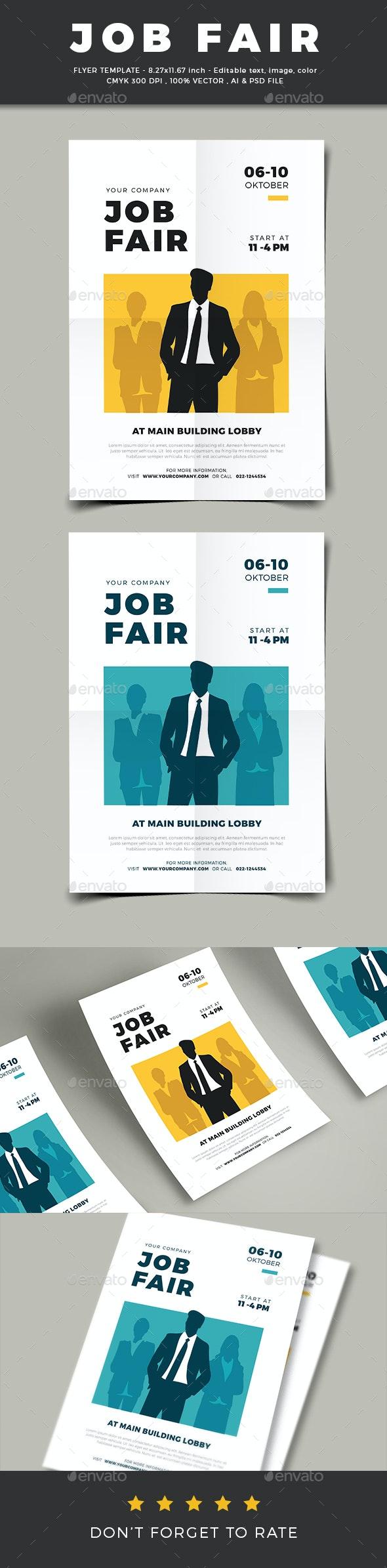 Job Fair Flyer Template - Corporate Flyers