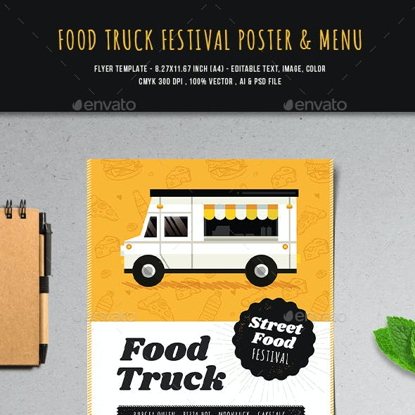 Food Truck Festival Poster & Menu