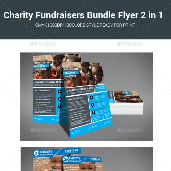 Charity Fundraisers Bundle Flyer 2 in 1