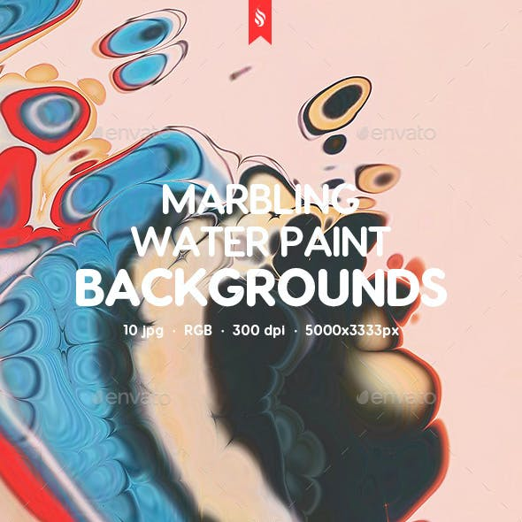 Decorative Marble Texture Paint on Water Backgrounds