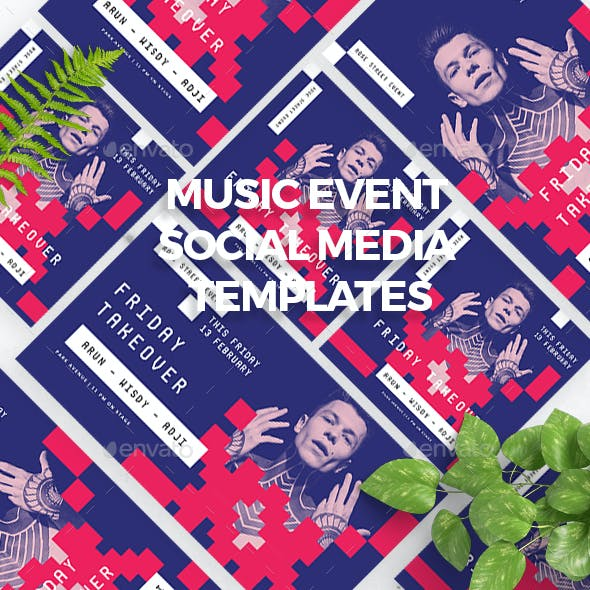 Music Event Social Media Templates