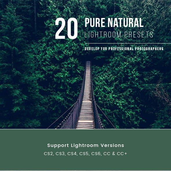 20 Pure Natural Lightroom Presets