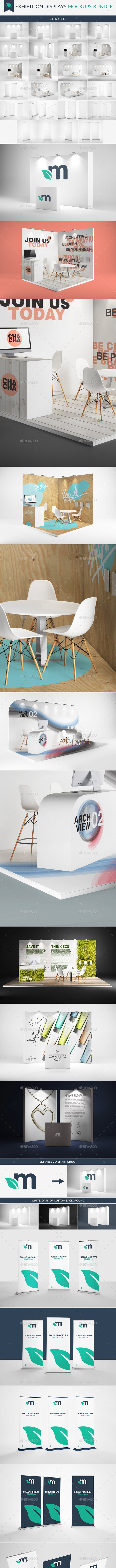 Exhibition Displays Mockups Bundle - Signage Print
