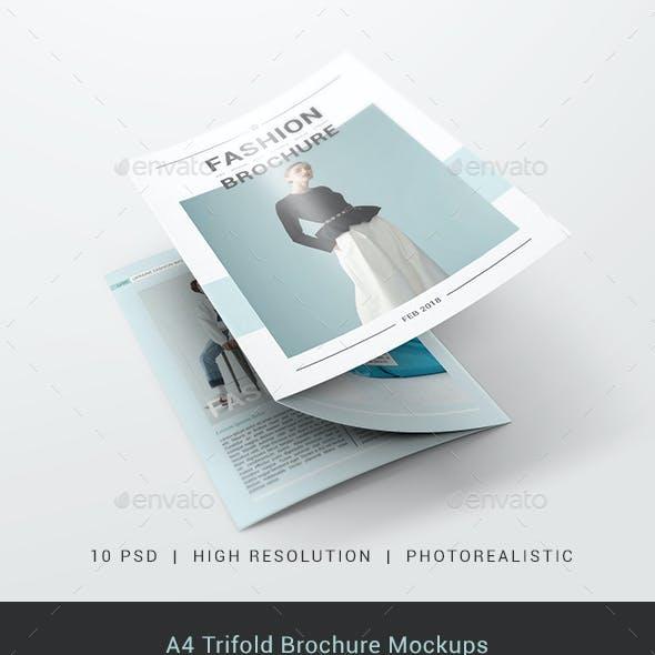 A4 Trifold Brochure Mockups