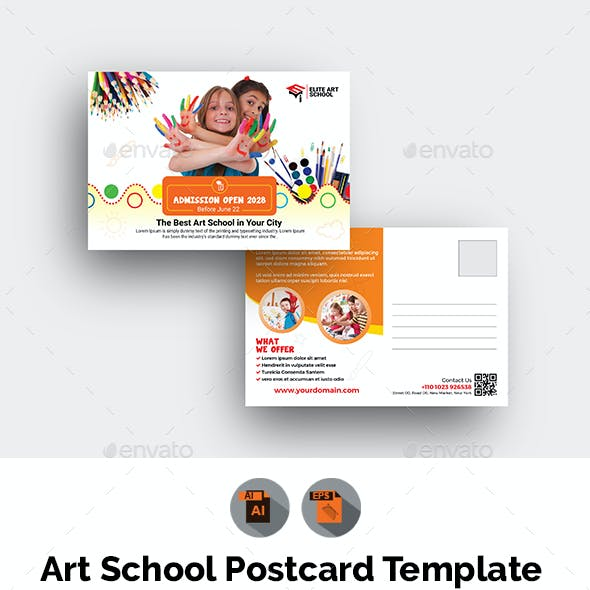 Art School Postcard Template
