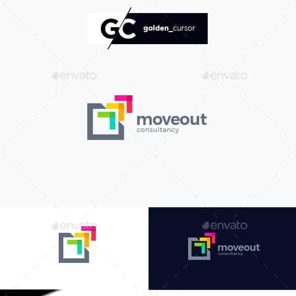 Abstract Growth Arrow Logo