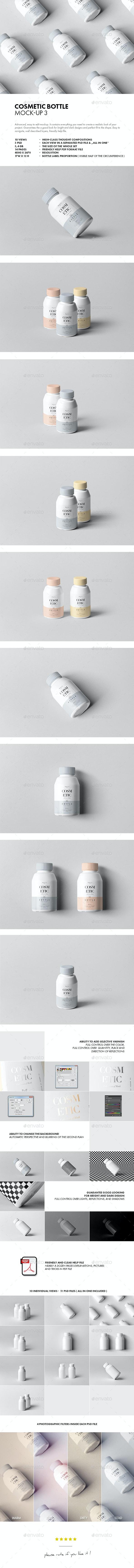 Cosmetic Bottle Mock-up 3 - Beauty Packaging
