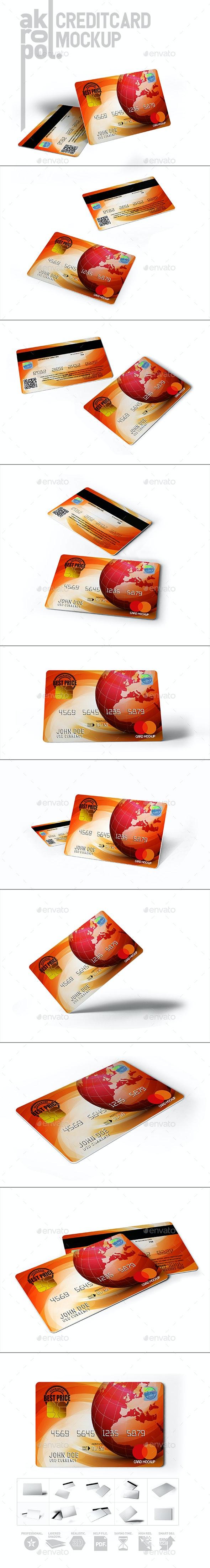 Credit Cards Mockup - Product Mock-Ups Graphics