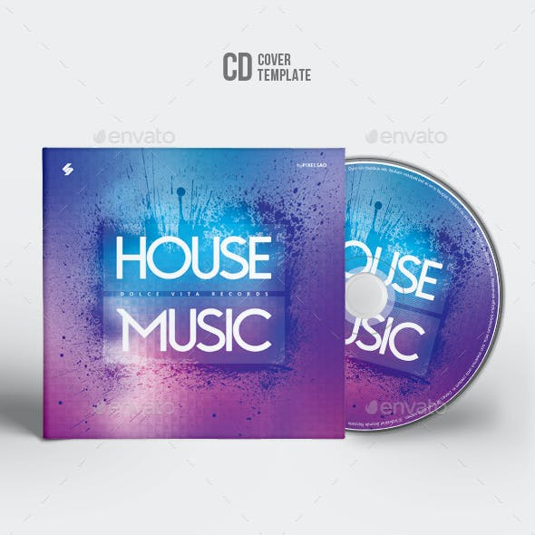 House Music - CD Cover Artwork Template