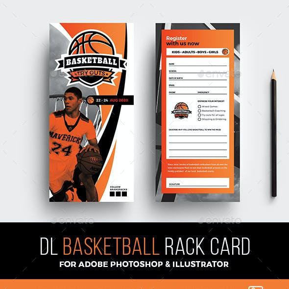 Basketball Rack Card Template
