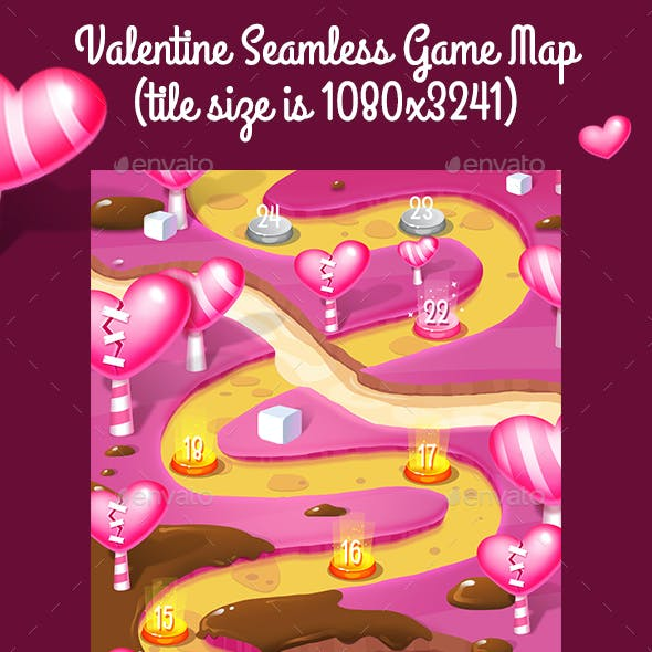 Valentine Vertical Seamless Game Map
