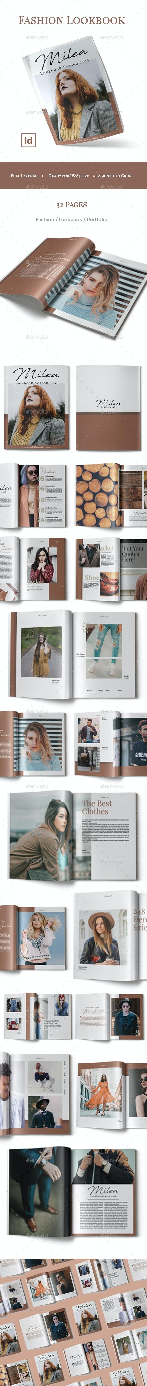 2018 Fashion Lookbook / Catalog - Magazines Print Templates