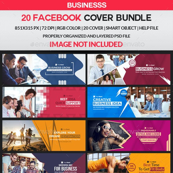 Facebook Cover Bundle - 20 Design 2