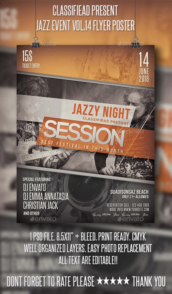 Jazz Event Flyer/Poster Vol.14 - Events Flyers