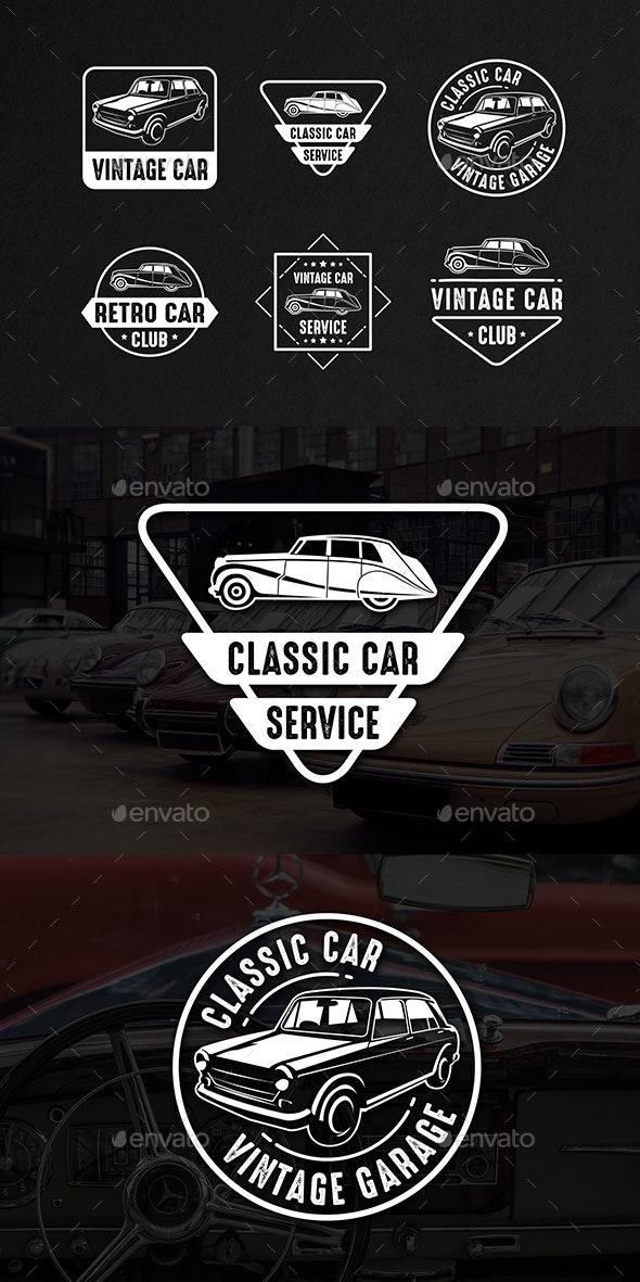 Classic Car Vintage Logo & Badge - Badges & Stickers Web Elements
